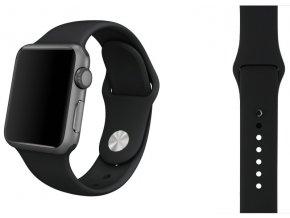 temne sedy silikonovy apple watch reminek