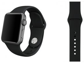 temne sedy silikonovy apple watch reminek