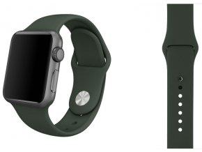 silikon apple watch reminek temne olivovy 2