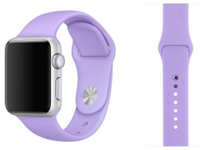lila silikonovy reminek pro apple watch 38 mm