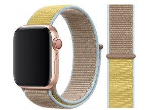 provlekaci reminek na suchy zip pro apple watch šedožlutý