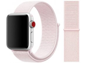 provlekaci reminek na suchy zip pro apple watch perlove ruzovy