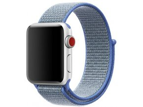 nebesky modra provlekaci reminek na suchy zip pro apple watch