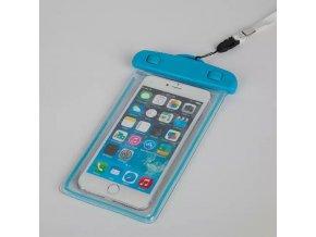 Vodotěsné univerzální svítící pouzdro pro mobily modré