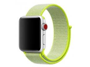 zarive zluty provlekaci reminek na suchy zip pro apple watch