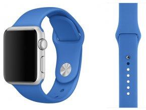 Královsky modrý silikonový řemínek pro Apple Watch 42 a 44 mm