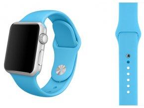 Tyrkysový silikonový řemínek pro Apple Watch 42 a 44 mm