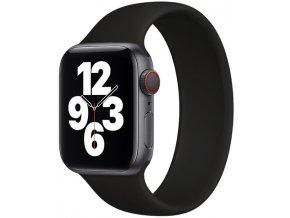 silikonovy reminek pro apple watch navlekaci cerny 03