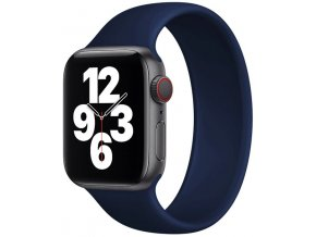 silikonovy reminek pro apple watch navlekaci modry