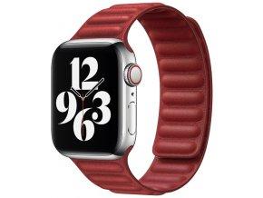 kozeny magneticky reminek pro apple watch 2 generace cerveny