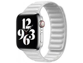 kozeny magneticky reminek pro apple watch 2 generace bily