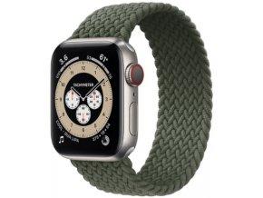 pleteny nylonovy navlekaci reminek pro apple watch zeleny