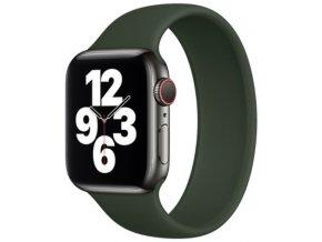 silikonovy reminek pro apple watch navlekaci zeleny