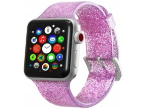 trpitivy silikonovy reminek pro apple watch ruzovy