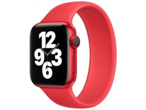 silikonovy reminek pro apple watch navlekaci cerveny