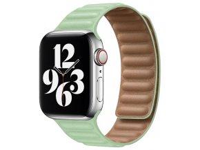 kozeny magneticky reminek pro apple watch 2 generace zeleny