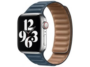 kozeny magneticky reminek pro apple watch 2 generace temne modry