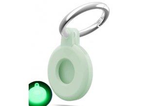 air tag pouzdro silikonove svitici zelene