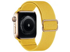 elasticky navlekaci reminek pro apple watch s prezkou zluty