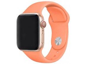 broskvový silikonovy reminek pro apple watch