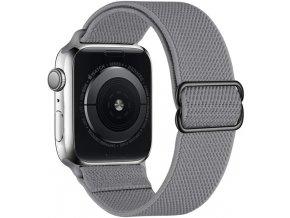 elasticky navlekaci reminek pro apple watch sedy