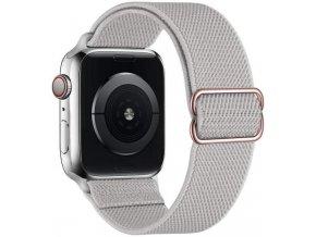 elasticky navlekaci reminek pro apple watch lehce sedy