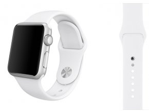 Bílý silikonový řemínek pro Apple Watch 38 a 40 mm