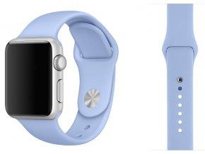 Barva světle fialová silikonový řemínek pro Apple Watch 38 a 40 mm (M/L 130 mm)