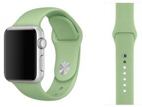 Barva mátová silikonový řemínek pro Apple Watch 38, 40 a 41 mm