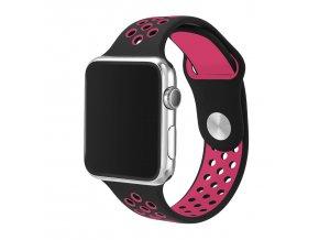 ruzovocerny silikonovy reminek pro apple watch 42 mm 01
