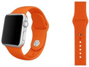 Oranžový silikonový řemínek pro Apple Watch 42 mm