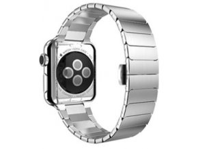 luxusni clankovy reminek z nerezove oceli pro apple watch 42 mm stribrny 00