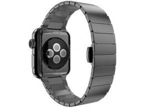 luxusni clankovy reminek z nerezove oceli pro apple watch 42 mm cerny 00