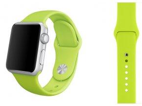 Zelený silikonový řemínek pro Apple Watch 42 a 44 mm
