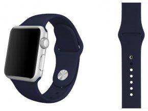 Půlnočně modrý silikonový řemínek pro Apple Watch 42, 44 a 45 mm