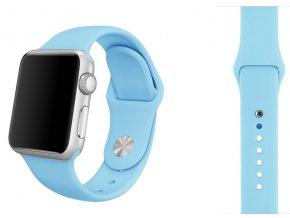 svetle modry silikonovy reminek pro apple watch 38 mm (2)