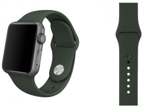 silikon apple watch reminek temne olivovy