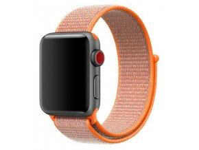 oranzovy tkany nylonovy reminek pro apple watch 01