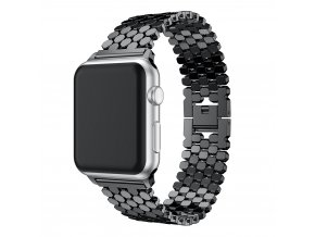 ocelovy reminek pro apple watch s osmihrany cerny 01