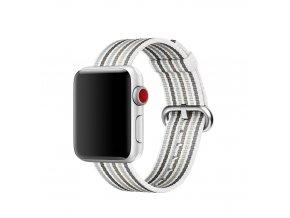 sede prouzkovany tkany nylonovy reminek pro apple watch 01