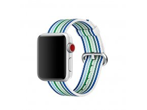 modre prouzkovany tkany nylonovy reminek pro apple watch 01