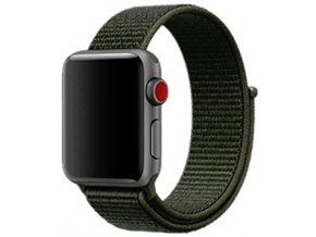 khaki provlekaci reminek na suchy zip pro apple watch