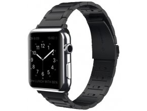 luxusni ocelovy reminek z nerezove oceli s odnimatelnymi clanky pro apple watch cerny