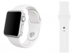 silikon apple watch reminek ryzove bily