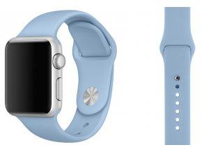 barva lehce modra silikonovy reminek pro apple watch