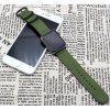 tkany nylonovy reminek pro apple watch s trojitou prezkou zeleny 03