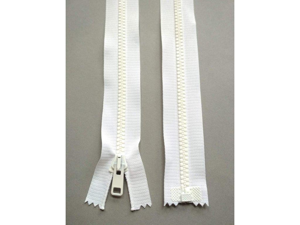 Zip 25 cm bílý