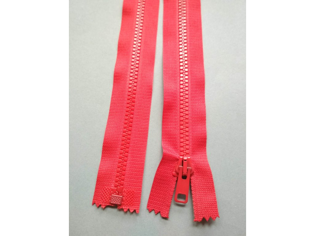 Zip 25 cm červený