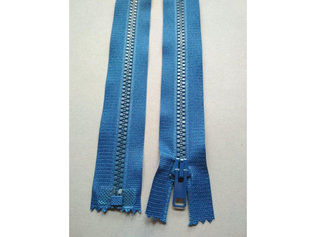 Zip 25 cm modrý