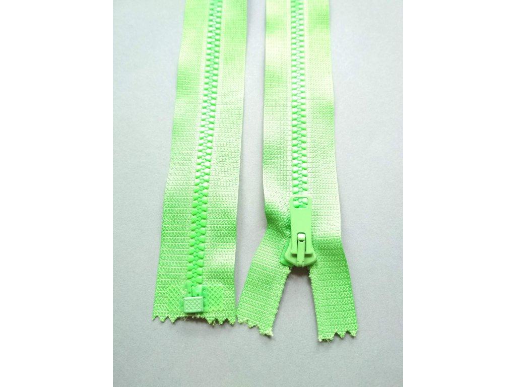 Zip 25 cm světle zelený
